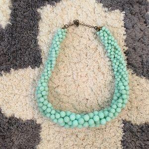 Short teal necklace
